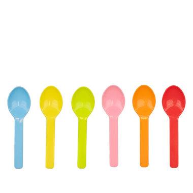 PLA ijslepeltjes 6,5cm kleurenmix
