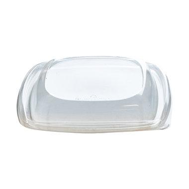 PLA saladebakje + deksel transparant 960ml/192x192x78mm