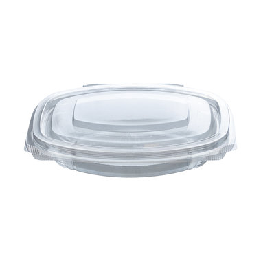 PLA saladebakje met klapdeksel 250ml/16,1x13x3,1cm