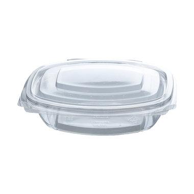 PLA saladebakje met klapdeksel 375ml/16,1x13x4,2cm