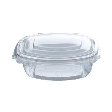 PLA saladebakje met klapdeksel 500ml/15,9x13x5,5cm