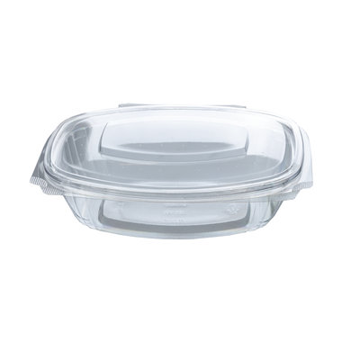 PLA saladebakje met klapdeksel 750ml/21x17x5,3cm