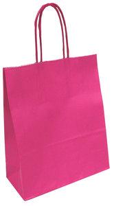 Papier tas gedraaid handv 32x12x41 roze